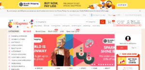 AliExpress Marketplace Homepage