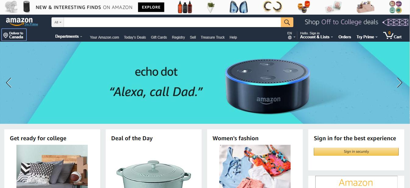 Amazon.com Marketplace Homepage