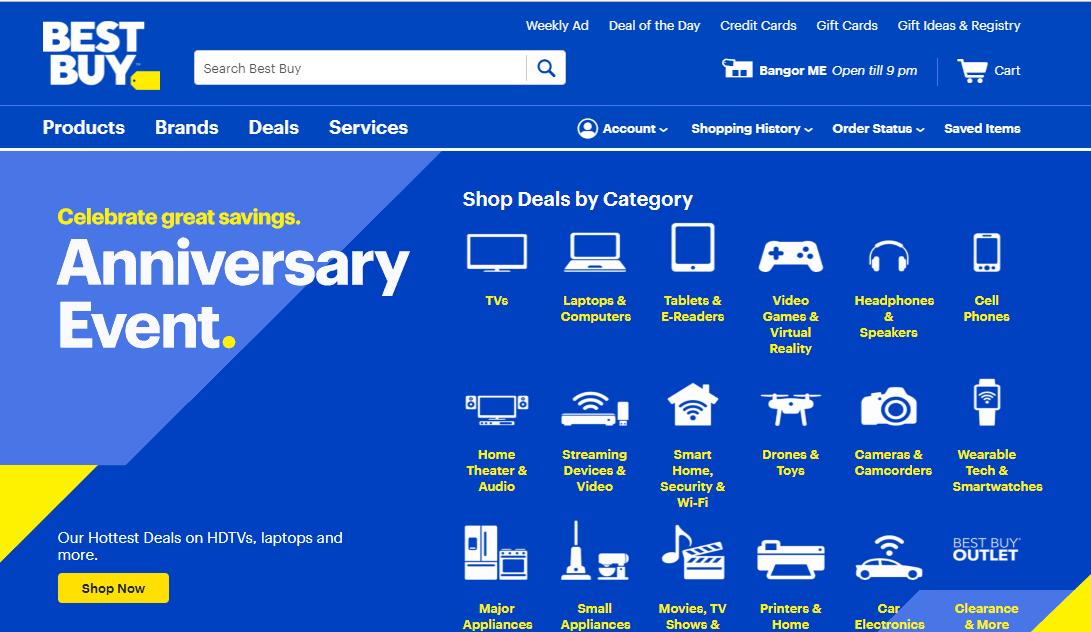 BestBuy.com Marketplace Homepage