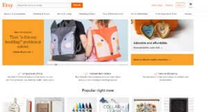 Etsy.com Marketplace Homepage