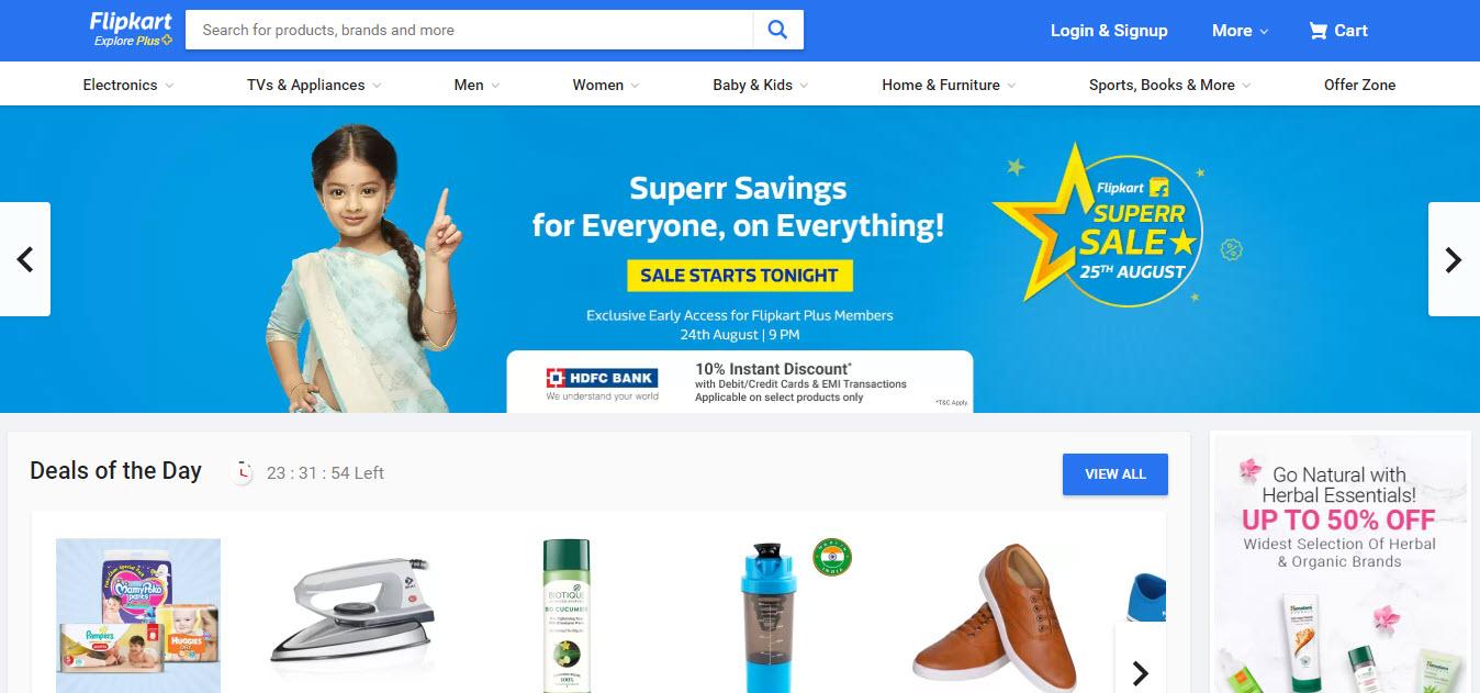 Flipkart Marketplace Homepage