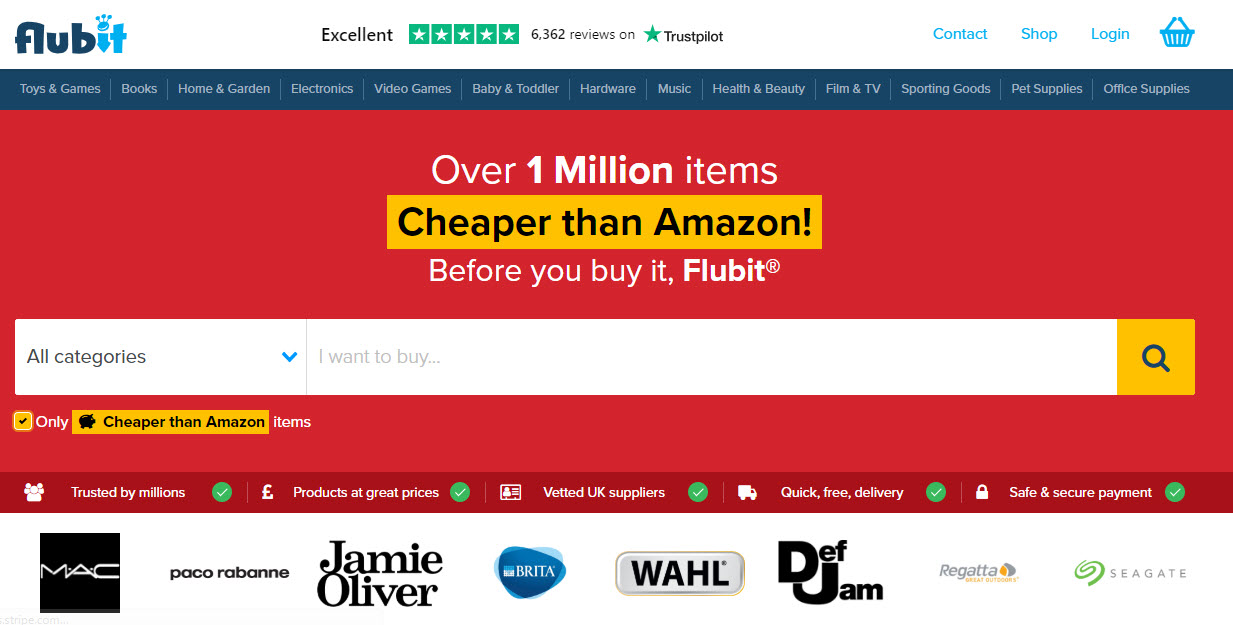 Flubit Marketplace Homepage