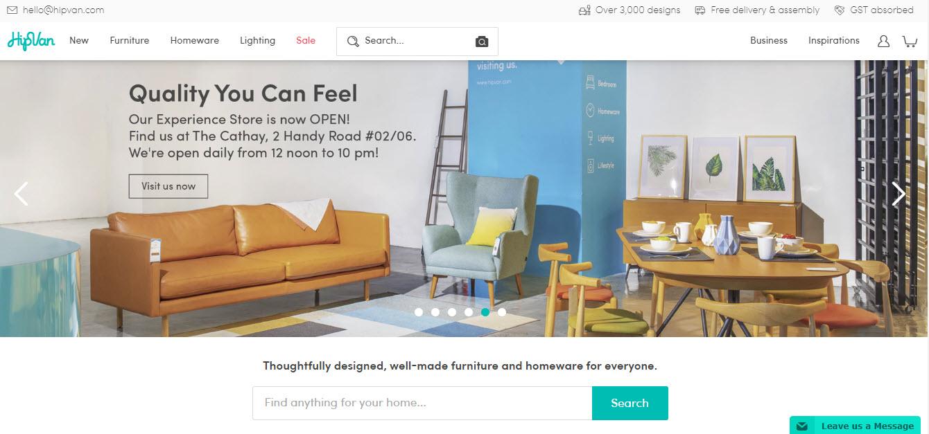HipVan Marketplace Homepage