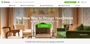 Houzz.com Marketplace Homepage