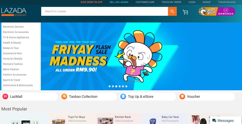 Lazada Marketplace Homepage