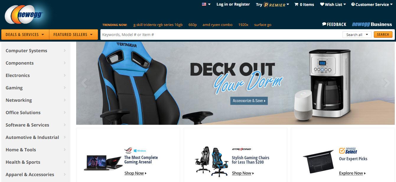 Newegg.com Marketplace Homepage