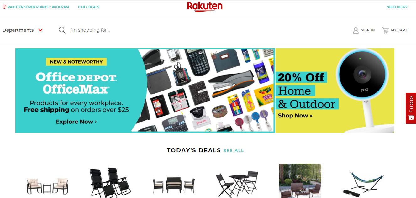 Rakuten Marketplace Homepage