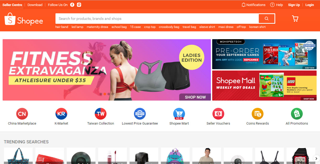 Shopee Marketplace Homepage