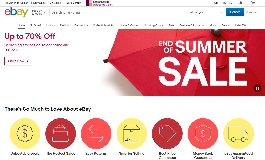 eBay.com Marketplace Homepage